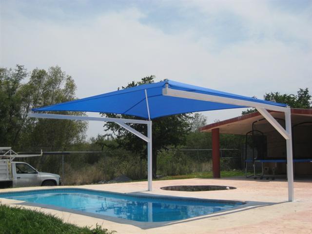 Sun shade malla sombra 95 proveedora de lonas y servicios for Techos para albercas